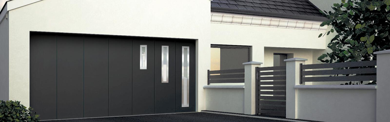 Porte de garage latérale Fermetures du Porhoët