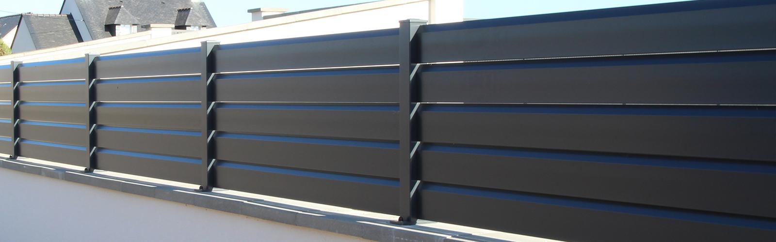 Clôture aluminium Fermetures du Porhoët