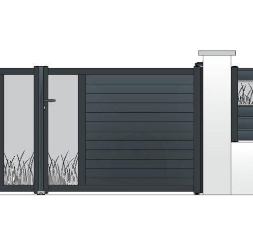 Décor ALPAGE sur TOPAZE + clôture OPALE
