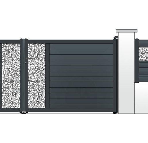 Décor ECLAT sur TOPAZE + clôture OPALE
