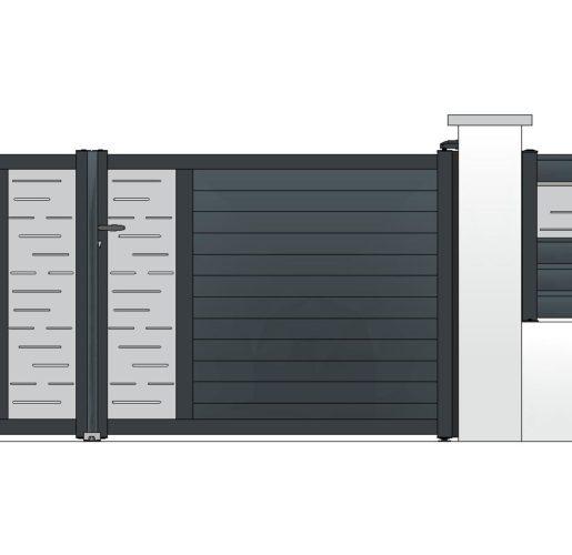 Décor LINEAS sur TOPAZE + clôture OPALE